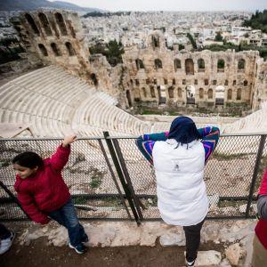 Asylsökande i Aten.