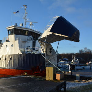 Förbindelsebåten Stella i Dalsbruk.