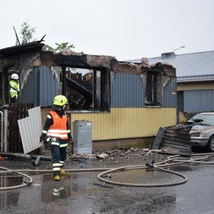 Brand i Österås.