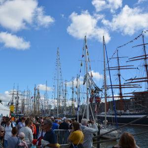 Besökare på Tall Ships Races