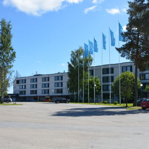 scandic hotell i Vasa bredvid tropiclandia.