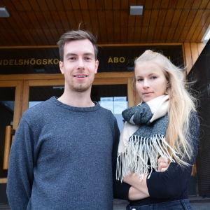 Daniel Haglund och Fanny Wikström.