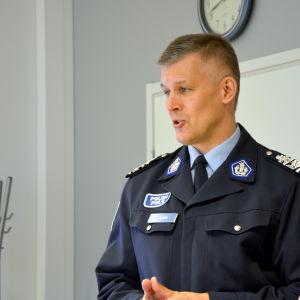 Österbottens polisinrättningschef Risto Lammi.