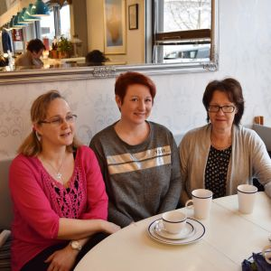 Petra Biström, Kristiina Remes och Seija Lindblom