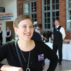 Paula Salovaara på konstfabriken i Borgå