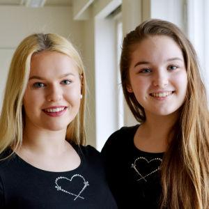 Jasmine Kuusla och Matilda Kajander