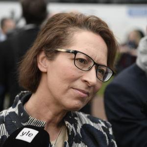 Kristdemokraternas ordförande Sari Essayah på Gullranda den 12 juni 2017.