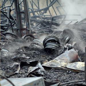 brandförödelse i bilhall