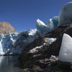 Jäätikön reuna Grönlannissa.