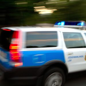 Svensk polisbil