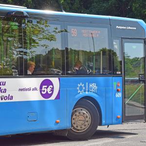 Lokalbuss i Helsingfors.