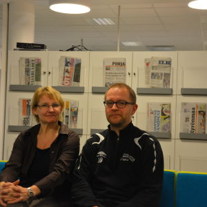 Elisabeth Henriksson och Mattias Levälahti hoppas på aktivare föräldraskap i Sundom