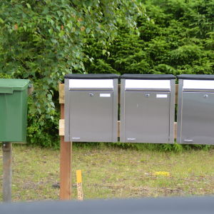 Postlådor grupperade 3 plus1.