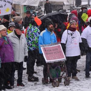 Demonstration för Vasa centralsjukhus.