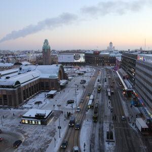 Brunnsgatan i Helsingfors, 7.1.2016.
