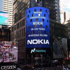 Ljustavla på New York börsen 13.8.2015