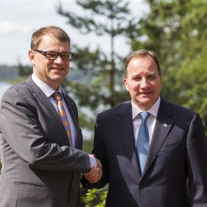 Juha Sipilä och Stefan Löfven på Gullranda 19.06.2016