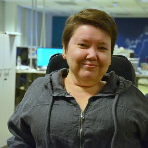 Carola Lithen i Yle Österbottens nyhetslandskap.