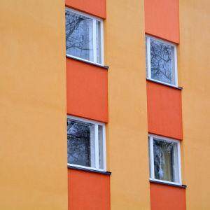 Fasad till bostadshus