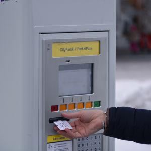parkeringsautomat vid borgå sjukhus
