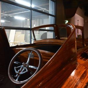 Presidenternas första båt, Kultaranta på Forum Marinum.