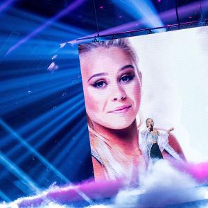 Lisa Ajax, finalist i Melodifestivalen 2017.