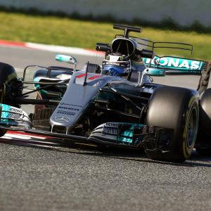 Valtteri Bottas bil i Spanien 10.3.2017