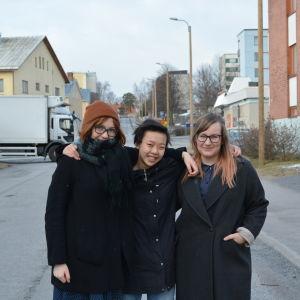 Wilma Staffans, Yannika Rönnqvist  och Johanna Sjöberg