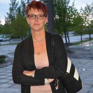 Jessica Berg, förälder och ordförande för Hem och skola i Petsmo.