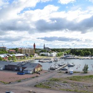 Utsikt från tornet på Drottningberg i Hangö.