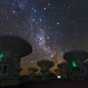 Radioteleskopet ALMA i Chile.