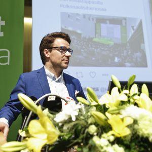 De grönas avgående ordförande Ville Niinistö