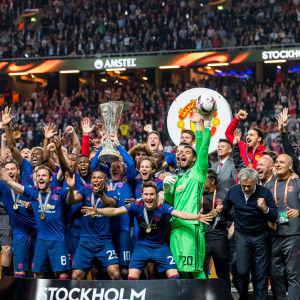Manchester United firar segern i Europa League