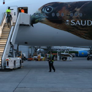 Saudiaraberna anländer till Sankt Petersburg och Ryssland den 9 juni.