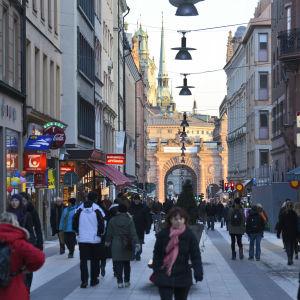 Drottninggatan i Stockholm.