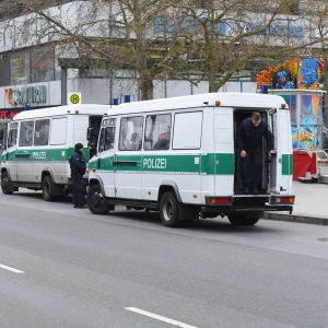 Tysk polis i Berlin den 20 december 2016