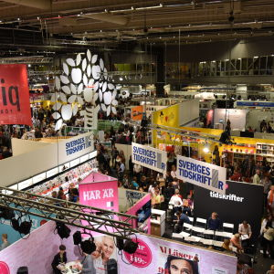 Bild från bokmässan i Göteborg år 2015.