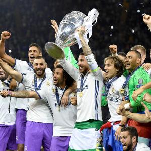 Fest för Real Madrid i Cardiff.