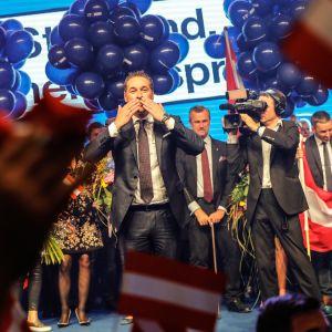 Det högerpopulistiska österrikiska frihetspartiets ledare Heinz-Christian Strache