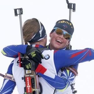 Marie Dorin Habert och Anais Bescond