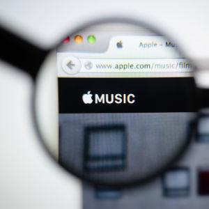 Kuva Apple Music -palvelun etusivusta