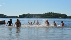 Simskola i sjön Dragsfjärden 2014