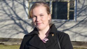 Marika Sorja (Sannf) kandiderar i riksdagsvalet 2015 i Helsingfors