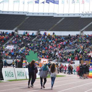 Paraden på Olympiastadion.