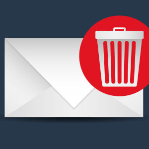 Kirjekuori ja roskaposti-symboli, grafiikka.