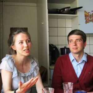Anja och Sergej Kotelnikov kom till Finland i september i fjol.