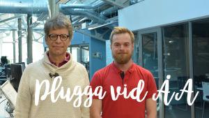 Professor Mikael Lindström och studenten Oscar Granlund