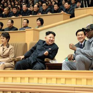 Dennis Rodman träffade Kim Jong-Un och hans fru Ri Sol-Ju senast i januari år 2014