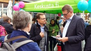 På gågatan i Uleåborg 24.8.2016