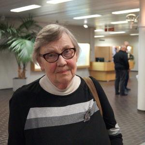 Kajsa Kouvo lämnade mötet efter omröstningen.